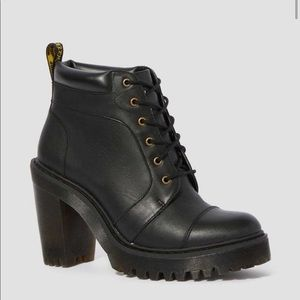 Dr martens averil leather heeled ankle boots 10